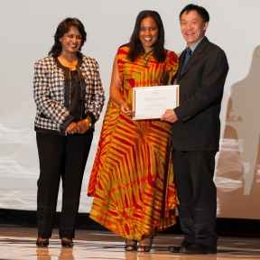 Aline Saraiva Okello winner of 2013 L'Oréal-UNESCO Fellowship Award