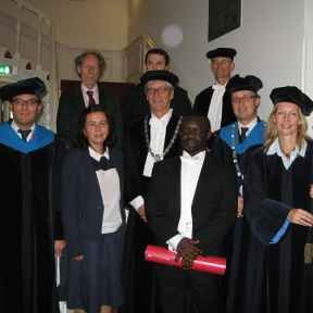 Mike Acheampong awarded with a Doctoral Degree